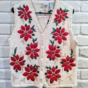 Vintage 80/90s Ugly Christmas Sweater vest medium